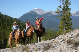 Reiten in den Rocky Mountains