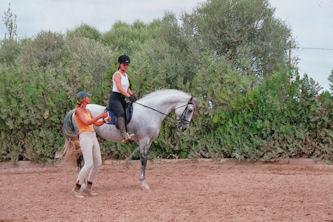 reiterferien / reiturlaub auf mallorca, balearen, spanien auf, Garten seite